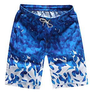 cheap Wetsuits, Diving Suits & Rash Guard Shirts-Men's Swim Shorts Swim Trunks Breathable Quick Dry Drawstring - Swimming Surfing Beach Autumn / Fall Summer / Micro-elastic