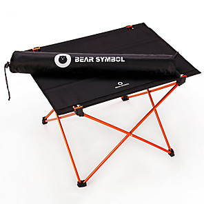 cheap Sleeping Bags & Camp Bedding-BEAR SYMBOL Camping Table Lightweight Super Slim Folding Easy to Install 1680D Polyester for Camping Autumn / Fall Spring Black / Orange Black / Blue