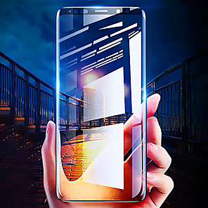 cheap Samsung Screen Protectors-Screen Protector for Samsung Galaxy S8 / S8 Plus / S9 / S9 Plus 3D Curved Full Tempered Glass 1 pc Front Screen Protector High Definition (HD) / 9H Hardness / Explosion Proof