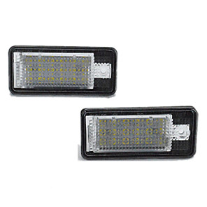 cheap Car Covers-2pcs/set Led License Number Plate Light Lamp for Audi A3/A4/A6/A8/RS4/RS6