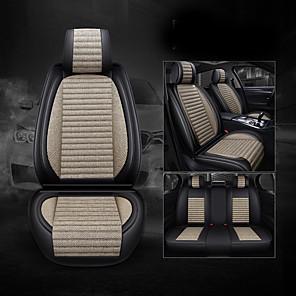 cheap Car DVR-Car Seat Covers Headrest & Waist Cushion Kits Gray / Coffee / Blue Leather Business For universal