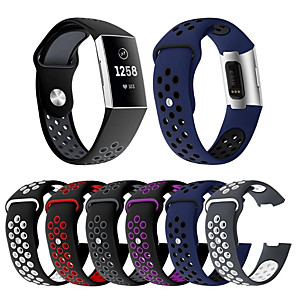 cheap Smartwatch Bands-Watch Band for Fitbit Charge 3 Fitbit Modern Buckle / Sport Band Silicone Wrist Strap