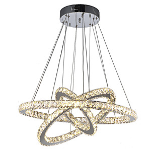 cheap Dimmable Ceiling Lights-1-Light LED Crystal Pendant Lights Ceiling Chandeliers Lamp Hanging Fixtures for Dining Living Room Hotel Home 110-120V / 220-240V