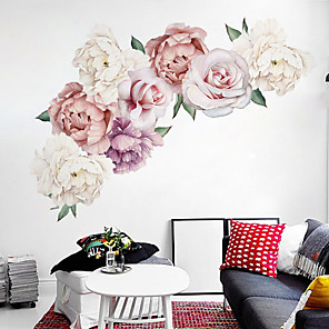 cheap Wall Stickers-Decorative Wall Stickers - Plane Wall Stickers Landscape / Floral / Botanical Living Room / Bedroom / Kitchen / Re-Positionable