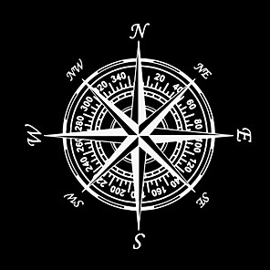 cheap Car Body Decoration & Protection-Compass Nautical Navigate Style Vinyl Car-styling Decal Motorcycle Car Sticker