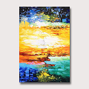 cheap Videogame Cosplay Accessories-Oil Painting Hand Painted - Abstract Modern Rolled Canvas