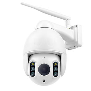 cheap Outdoor IP Network Cameras-Wanscam K64A 1080P PTZ IP Camera 16X Zoom FHD Face Detection Auto Tracking Dome WiFi Wireless Two-way Audio Colorful Night Vision Motion Detection IP66 Waterproof Remote Access