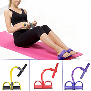 cheap Fitness Gear & Accessories-Pedal Resistance Band Sit-up Pull Rope 1 pcs Carry Bag Sports Home Workout Yoga Pilates Strength Training Muscular Bodyweight Training Physical Therapy Stretching For Women's Waist Upper Arm Wrist