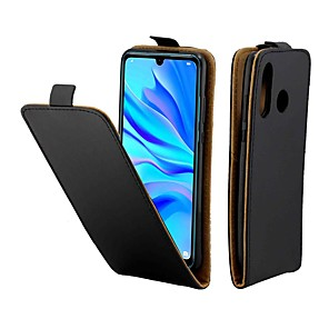 cheap Huawei Case-Case For Huawei P20 Pro / Huawei P30 Lite Magnetic / Flip / Shockproof Full Body Cases Solid Colored Genuine Leather for Huawei P Smart Plus / Huawei P Smart 2019 / P9 lite mini / P20 Lite/P30 Pro