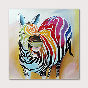cheap Prints-Oil Painting Hand Painted Animals Pop Art Modern Rolled Canvas Rolled Without Frame
