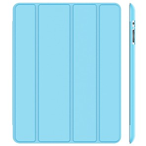 cheap iPad case-Case For Apple iPad 4/3/2 Shockproof / Dustproof / Auto Sleep / Wake Up Full Body Cases Solid Colored Hard PU Leather