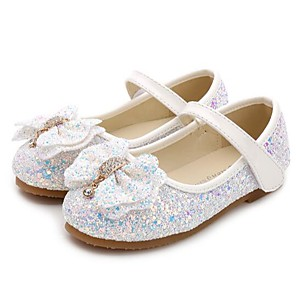 cheap Kids' Flats-Girls' Comfort / Flower Girl Shoes Synthetics Flats Little Kids(4-7ys) / Big Kids(7years +) Bowknot / Sequin White / Pink / Light Pink Spring