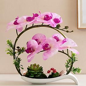cheap Artificial Plants-Artificial Flower Polyester Modern Contemporary Irregular Tabletop Flower Irregular 1