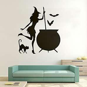 cheap Wall Stickers-Decorative Wall Stickers - Animal Wall Stickers / Holiday Wall Stickers Animals / Halloween Decorations Living Room / Bedroom / Kitchen / Removable / Re-Positionable
