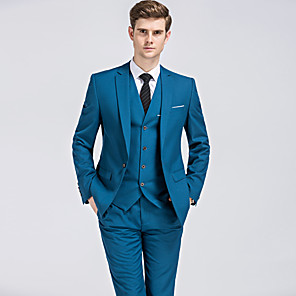 cheap Projectors-Tuxedos Standard Fit Notch Single Breasted One-button Polyester