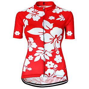 cheap Cycling Jerseys-21Grams Women's Short Sleeve Cycling Jersey Black Purple Blushing Pink Floral Botanical Plus Size Bike Jersey Top Mountain Bike MTB Road Bike Cycling Breathable Quick Dry Sweat-wicking Sports Terylene