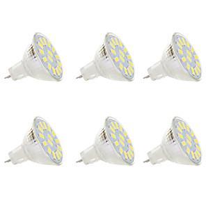 cheap LED Spot Lights-6pcs 5 W LED Spotlight 300 lm MR11 MR11 15 LED Beads SMD 5730 Warm White White 9-30 V