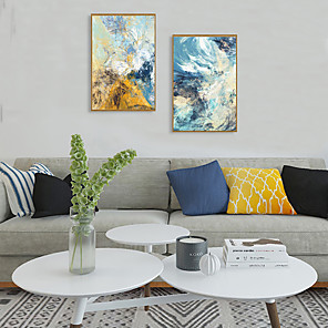 cheap Framed Arts-Framed Art Print Framed Set - Abstract PS Oil Painting Wall Art