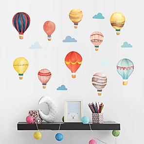 cheap Wall Stickers-DIY Hot Balloon Wall Sticking Paper Wallpaper in Children's Bedroom Living Room Studio Decorative Wall Stickers - Plane Wall Stickers Still Life Kids Room / Nursery