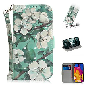 cheap Other Phone Case-Case For LG V40 THINQ / LG Stylo 5 / LG G8 THINQ Wallet / Card Holder / Shockproof Full Body Cases Flower PU Leather