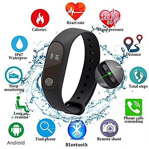 cheap Smart Wristbands-M2 Smart Band Kids Sport Watch for Men Women Fitness Tracker Heart Rate Monitor Message Reminder Life Waterproof Bracelet