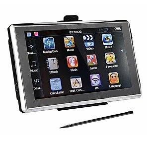 cheap Car DVD Players-7 inch Car GPS Navigation 256/8GB Navigators FM Transmitter  Free maps