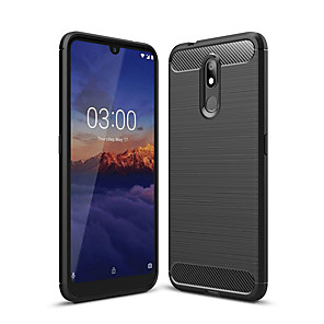 cheap Other Phone Case-Case For Nokia Nokia 4.2 / Nokia 3.2 Dustproof Back Cover Solid Colored Soft Carbon Fiber
