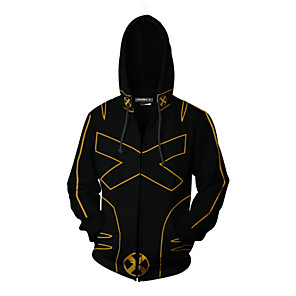 cheap Everyday Cosplay Anime Hoodies & T-Shirts-Inspired by Cosplay X-men Coat Terylene Print For Men's / Women's
