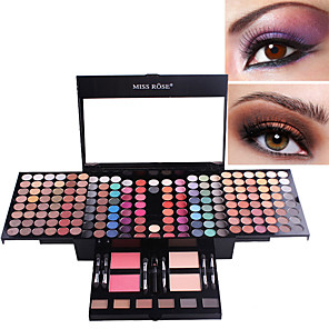 cheap Eyeshadows-180 colors matte nude shimmer eyeshadow palette makeup set with brush mirror Shrink professional Cosmetic case makeup kit