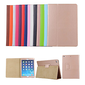 cheap iPad case-Case For Apple iPad Air / iPad 4/3/2 / iPad (2018) with Stand / Flip Full Body Cases Solid Colored Hard PU Leather / iPad Pro 10.5 / iPad (2017)