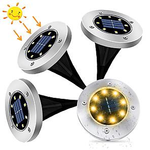 cheap Pathway Lights-ZDM 4PCS 2W Solar Waterproof Garden Road Garden Light Outdoor Lighting with Light Sensor DC3.7V