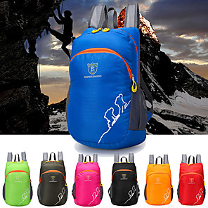 cheap Flashlights & Camping Lanterns-25 L Hiking Backpack Lightweight Packable Backpack Waterproof Lightweight Compact Wear Resistance Outdoor Hiking Climbing Cycling / Bike Nylon Red Green Blue