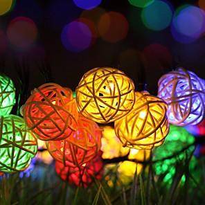 cheap LED String Lights-Solar Powered String Lights,20ft 30 PCS LED Waterproof Fairy Christmas Lights  Multicolor