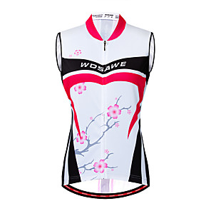 cheap Cycling Jerseys-WOSAWE Women's Sleeveless Cycling Jersey Cycling Vest Fuchsia Floral Botanical Bike Vest / Gilet Jersey Mountain Bike MTB Road Bike Cycling Breathable Quick Dry Moisture Wicking Sports Clothing