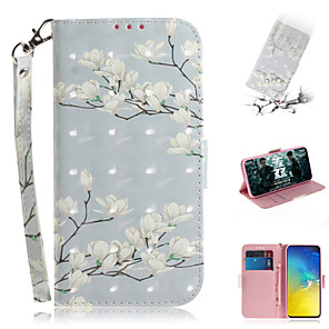 cheap Samsung Case-Case For Samsung Galaxy S7 edge / S7 / Galaxy S10 Wallet / Card Holder / with Stand Full Body Cases Flower PU Leather