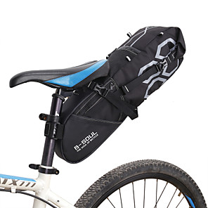 cheap Bike Frame Bags-B-SOUL 12 L Bike Saddle Bag Large Capacity Waterproof Reflective Strips Bike Bag Polyester PVC Bicycle Bag Cycle Bag Road Bike Mountain Bike MTB