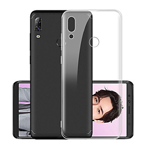 cheap Cell Phone Cables-Case For Lenovo Lenovo S5 / Lenovo K5 Pro / Lenovo Z5 Shockproof / Dustproof / Transparent Back Cover Transparent Soft TPU
