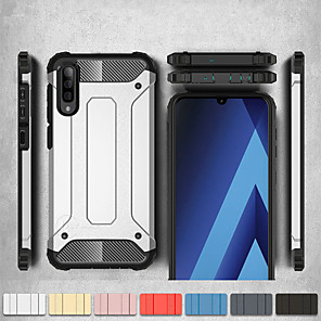 cheap Samsung Case-Shockproof Cover Phone Case For Samsung Galaxy A50 A70 A40 A30 A20 A10 A20e Rubber Armor Hybrid PC Hard Cover For A7 2018 A8 Plus 2018 A8 2018 A6 Plus 2018 A6 2018 Silicone TPU Case