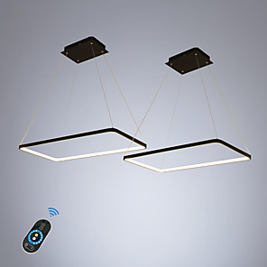 cheap Pendant Lights-2-Light Geometric Ecolight 2 pcs/lot Rectangle Linear Pendant Light Ambient Light for Dinning Room Living Room. Adjustable Dimmable 110-120V / 220-240V Warm White / White / Wi-Fi Smart