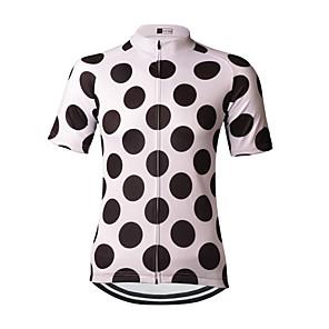 cheap Cycling Jerseys-21Grams Polka Dot Women's Short Sleeve Cycling Jersey - Black / White Bike Jersey Top Breathable Moisture Wicking Quick Dry Sports Terylene Mountain Bike MTB Clothing Apparel / Micro-elastic