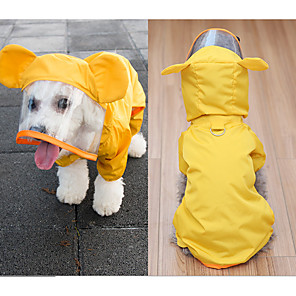 cheap Dog Clothes-Dog Rain Coat Waterproof Outdoor Dog Clothes Yellow Green Costume Mixed Material S M L XL XXL