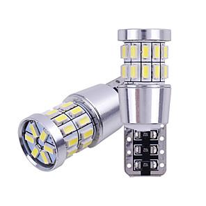 cheap Side Marker Lights-2pcs T10 W5W LED Bulb 194 168 Canbus No error White Light 3014 30 SMD For Car Interior Dome License Plate Light Lamp 12V