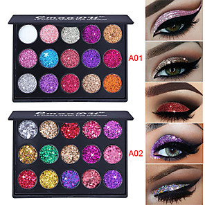 cheap Eyeshadows-2 Colors Eyeshadow Odor Free Normal Fashionable Design 1 pcs Makeup Cosmetic EyeShadow Dressing up Halloween Makeup Party Makeup Cateye Makeup Glamorous & Dramatic Fashion Waterproof Long Lasting