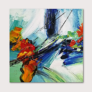 cheap Still Life Paintings-Oil Painting Hand Painted - Abstract Modern Stretched Canvas