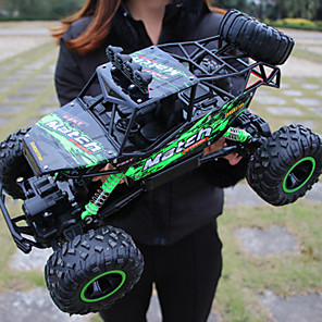 cheap RC Cars-RC Car Auto Radio Control 4wd 4 Channel 2.4G On-Road / Off Road Car / 4WD 1:18 Brush Electric 20 km/h