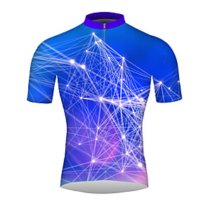 cheap Cycling Jerseys-21Grams 3D Men's Short Sleeve Cycling Jersey - Purple Bike Jersey Top Breathable Quick Dry Moisture Wicking Sports 100% Polyester Mountain Bike MTB Road Bike Cycling Clothing Apparel / Micro-elastic