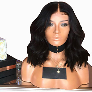 cheap Synthetic Trendy Wigs-Synthetic Wig Body Wave Layered Haircut Wig Medium Length Natural Black Synthetic Hair 38~42 inch Women's New Arrival Black