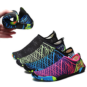 cheap Water Shoes & Socks-Men's Women's Water Shoes Printing Neoprene Anti-Slip Softness Barefoot Diving Surfing Snorkeling - for Adults
