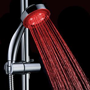 povoljno Ručni tuš-vodio tuš glava mijenja 2 vode način 7 boja svjetla automatski mijenja ručni showerhead