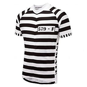 cheap Cycling Jerseys-21Grams Stripes Men's Short Sleeve Cycling Jersey - Black / White Bike Jersey Top Breathable Quick Dry Moisture Wicking Sports Terylene Mountain Bike MTB Road Bike Cycling Clothing Apparel / Race Fit